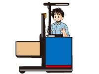 照明器具、医療用商材をフォークリフトでの出荷作業