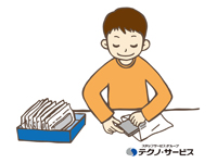 製品の袋詰め作業、袋とじ作業、パレット積み作業を…