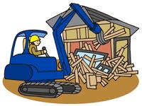 解体作業および収集運搬