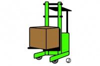 リーチフォークリフトの入出荷作業を中心に行います。