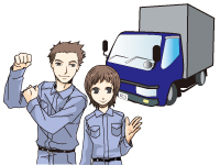 大型トラック牽引ドライバー