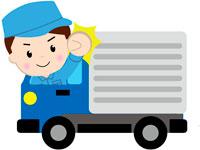 軽車両で食品・雑貨の配送をお願いします。