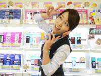 家電量販店内NTTドコモ携帯コーナー