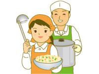 (1)調理員 (2)洗浄員
