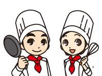 施設内でのお食事の調理・盛付