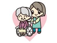 老人ホームへ訪問して利用者様に介護サービス