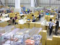 ロジスティクスの倉庫内での検品・出荷業務など