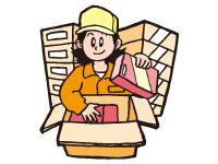(1)焼き菓子の入出荷、梱包作業
