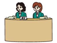 各店舗での受付業務が主なお仕事です。