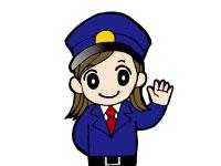 /ベルモールの従業員入口での受付・PC入力等。(女…