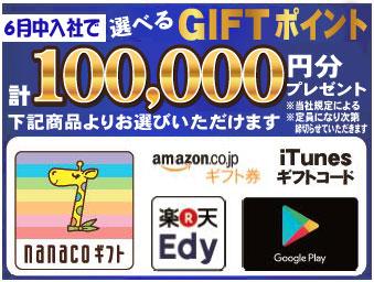 業界初!!選べるe-GIFTキャンペーン中 !