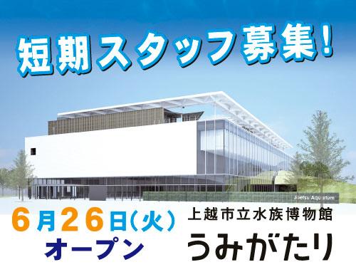 株式会社横浜八景島 上越水族博物館 うみがたりの求人情報を見る